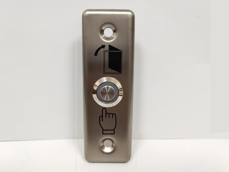 长方形不锈钢出门开关SC10B(带灯)