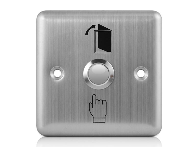 正方形不锈钢出门开关SC10A(不带灯)