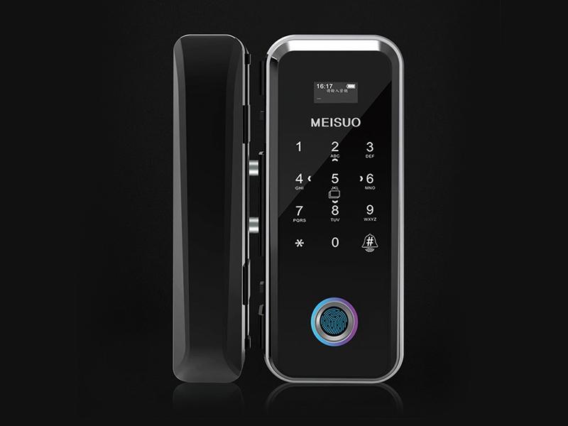 玻璃门无线刷卡密码指纹锁669